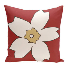 Polyester Outdoor Pillow, Floral
