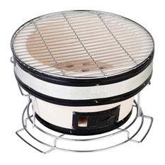 Fire Sense - Small Round Yakatori Charcoal Grill - Outdoor Grills