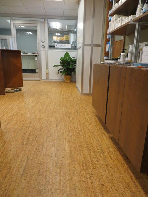 Line art natural floating cork for Commercial grade cork flooring