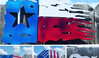 Texas Flag, American Flag, CNC Plasma,
