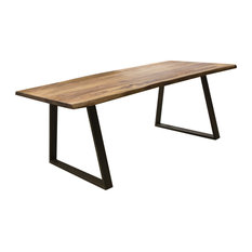 """Dining Table 63"""" X 35"""" With Rosewood Top And Metal Legs, Seats 4 To 6"""
