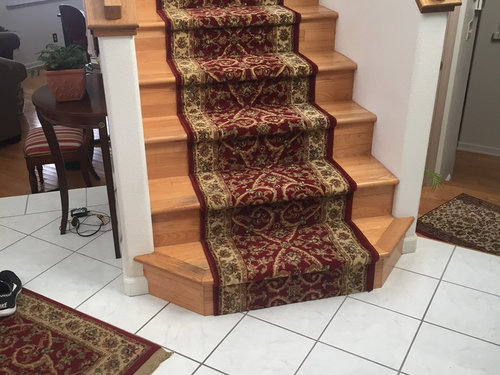 Superieur Would Terra Cotta Tile Entryway Work With Wood Stairs And Rug?