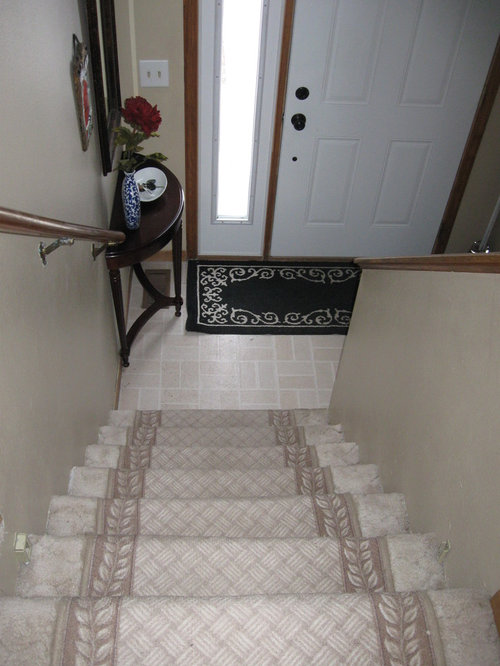 Carpet And Stairway Ideas For Split Entry Home