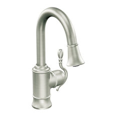 Spot Resist Stainless 1-Handle Pulldown Bar Faucet
