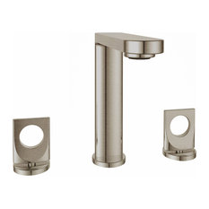 Fresh Widespread Faucet Knobs and Drain, Brushed Nickel