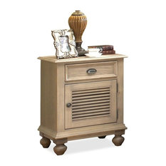 Riverside Furniture - Coventry Nightstand w Door, Weathered Driftwood - Nightstands and Bedside Tables
