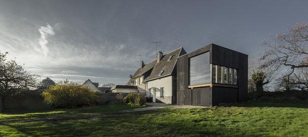 abstrakt in der normandie eine kubusf rmige bibliothek f r zwei. Black Bedroom Furniture Sets. Home Design Ideas
