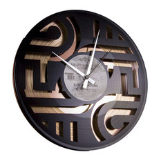 Geometry No. 1 Wall Clock, Gold Back