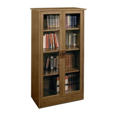 Ameriwood 4 Shelf Gl Door Barrister Bookcase In Inspire Cherry Bookcases