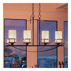 Luxury Rustic Bronze and Onyx Linear Chandelier, UQL2415, Montevideo Collection