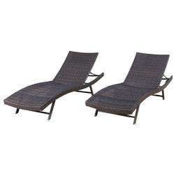 Luxury Contemporary Outdoor Chaise Lounges by GDFStudio