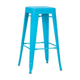 Industrial Metal Bar Stool, Aqua