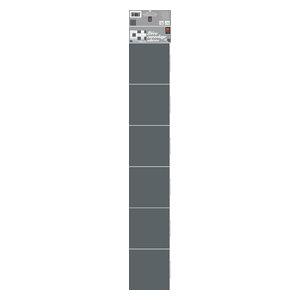 Grey Tile Wall Panels, 15x15 cm, Set of 18