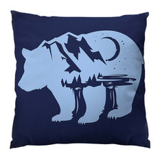 "Bearscape Throw Pillow, 26""x26"", Pillow Cover Only"