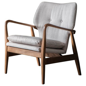 Jensen Mid Century Modern Accent Chair, Natural