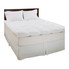 """Lavish Home - 100% Duck Feather 4"""" Gusset Topper by Lavish Home, Full - Mattress Toppers and Pads"""