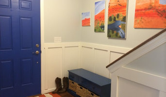 Entryway board and battens