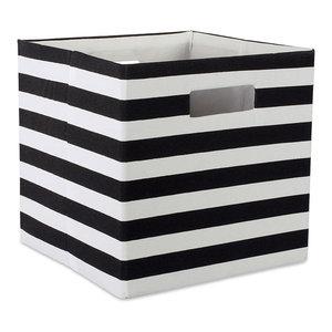 Dii Polyester Cube Stripe Copper Square 11x11x11