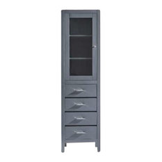 """Wellmont 20"""" Side Cabinet, Gray, Polymarble Countertop"""