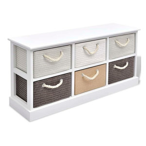 vidaXL Storage Bench, 6-Drawer