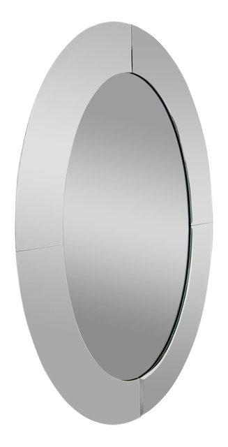 Oval Bevel Edge Trim Overlay Decorative Wall Mirror