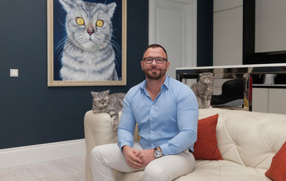Houzz Tour: Easygoing Elegance for Cats and Their Owner