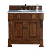 """Brookfield 36"""" Single Vanity Country Oak, Cabinet Only (Top Not Included)"""