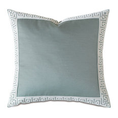 Chatham Ice With Greek Key Border Pillow