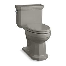 Kohler Kathryn 1-Piece Elongated 1.28 GPF Toilet, Left-Hand Lever, Cashmere