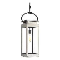 Progress Lighting Union Square 1-Light Hanging Lantern, Stainless Steel
