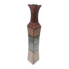 "D'Lusso Designs 34"" Denise Design Metal Floor Vase"