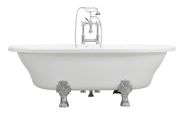 acrylic clawfoot tub package. Francesca 73  Extra Wide Acrylic White Double Ended Clawfoot Tub Package