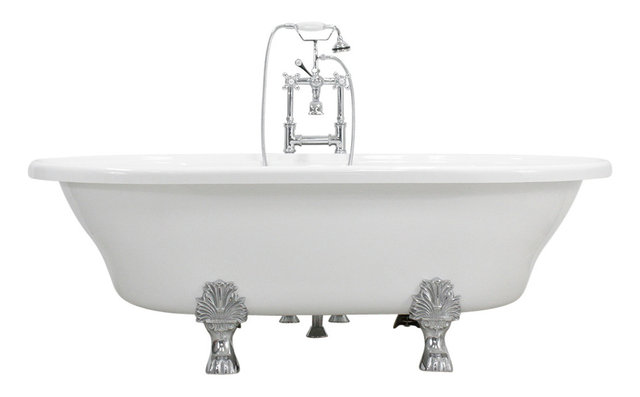 extra long clawfoot tub. Francesca 73  Extra Wide Acrylic White Double Ended Clawfoot Tub Package