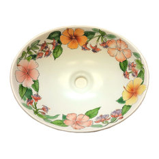 Limited Edition Hand Painted Aloha Vessel Sink, Sink Only