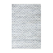 Blue Jeans and Cotton Flat Weave Rug, 8'x10'