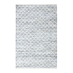 Blue Jeans and Cotton Flat Weave Rug, 9'x12'