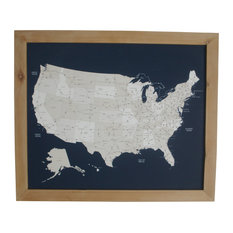 Framed Map Houzz - Framed us map