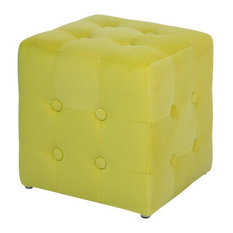 Wisconsin Green Cube Footstool