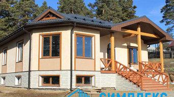 Проектирование и строительство одноэтажного дома из газобетона площадью 236 м2.