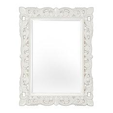 Firenze Mirror, Stone White, 75x105 cm