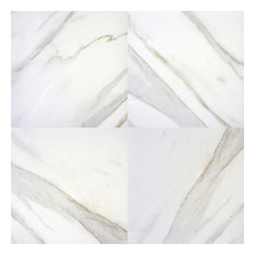 "Pietra Calacatta Procelian 18""x18"" Polished Marble Floor and Wall Tile-Sample"