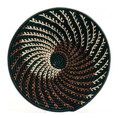 Bukedo and Raffia Coil Weave Bowl From Uganda, 16""