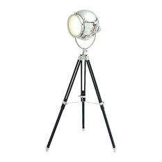 Spotlight Floor Lamp Silver Chrome Tripod Easel Home Decor 24851