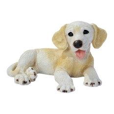 Yellow Labrador Puppy Dog Statue