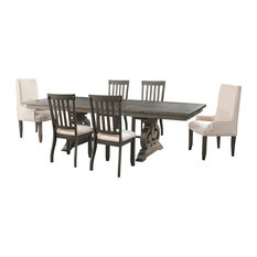 Stanford Dining Table With 4 Side Chairs And 2 Parson Chairs
