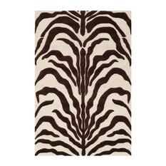 Nahla Ivory and Brown Rug, 120x180 cm