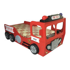 Toddler Car Bed Fire Truck, Red
