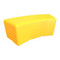 Tenjam Swerve Modular Bench, Yellow