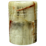 Marble Products International - Onyx Jewerly Holder - One of a kind jewelry holder made of 100% colored Onyx marble. This jewelry holder will add to any home decor and bring that special look to your dresser or vanity table. This holder also save space as it is round and not your traditional square shape which takes up more space.