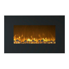 """Northwest 36"""" Fireplace Color Changing Wall Mount Floor Stand"""